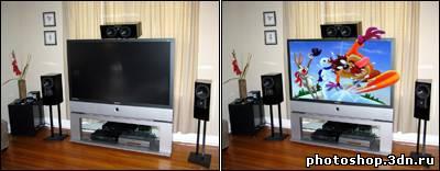 Эффект из телевизора